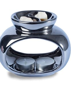 Silver stylish wax melt burner