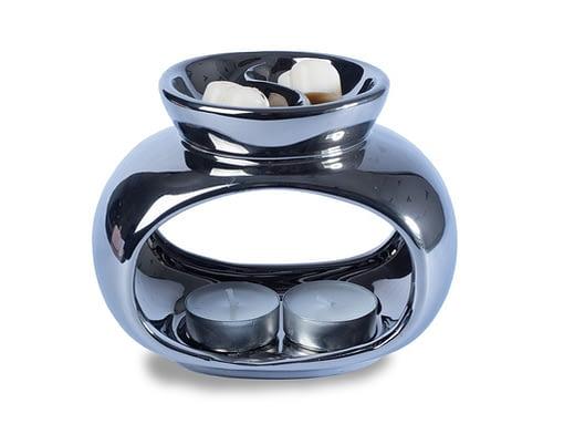 Silver stylish wax melt burner